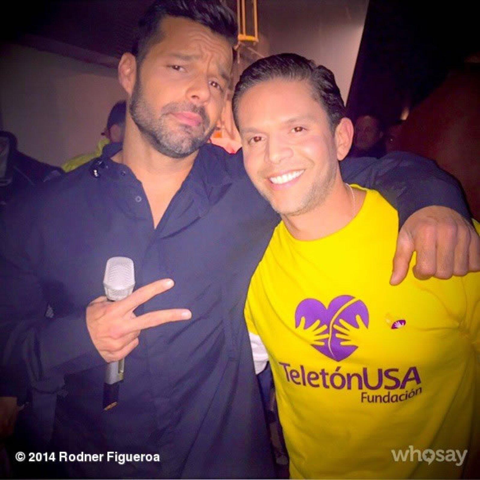 Ricky Martin y Rodner Figueroa.