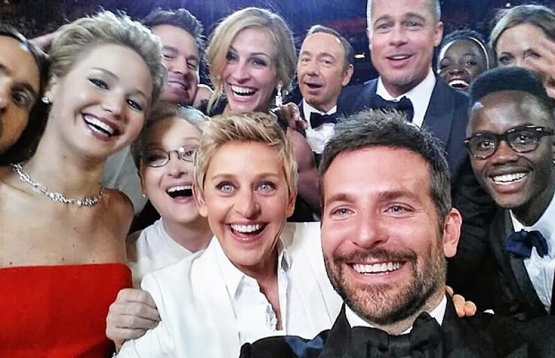 Esta es la ganadora de todas las selfies, pues su popularidad hasta ahora, ha sido insuperable.