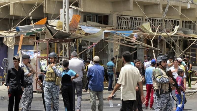víctimas de explosiones en Iraq