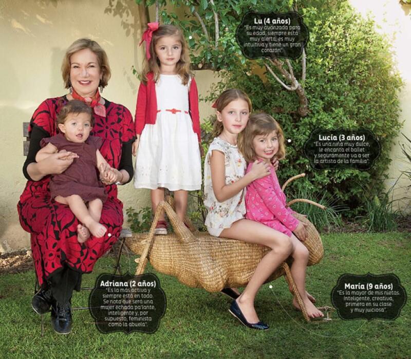 La escritora nos presenta (y describe) a sus nietas en su casa de Valle de Bravo . Dice con orgullo que son el mejor legado que le dejará al mundo.