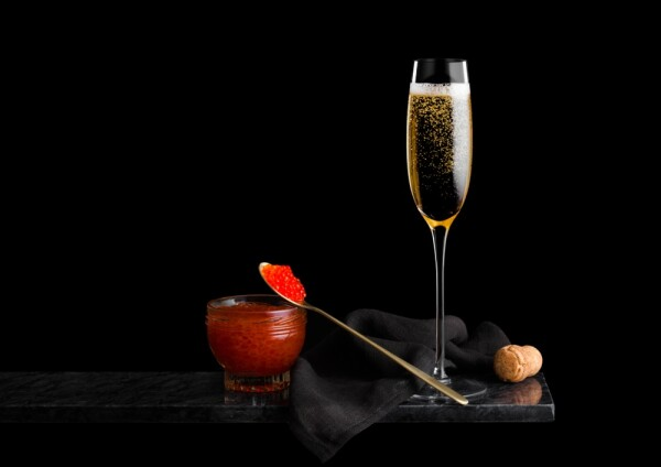 Caviar y champagne
