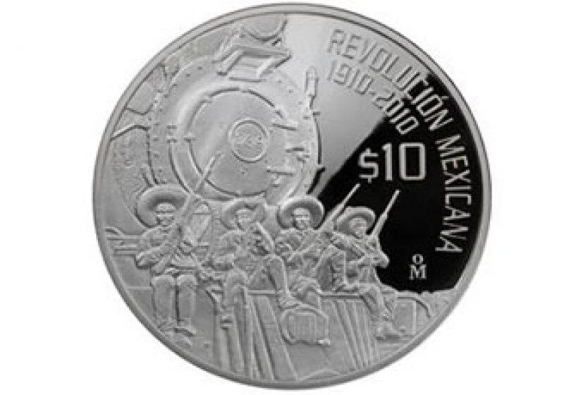El valor nominal de la moneda es de 10 pesos, tiene un diámetro de 48 milímetros, un peso de 62.2 gramos de plata pura. (Foto: Especial)