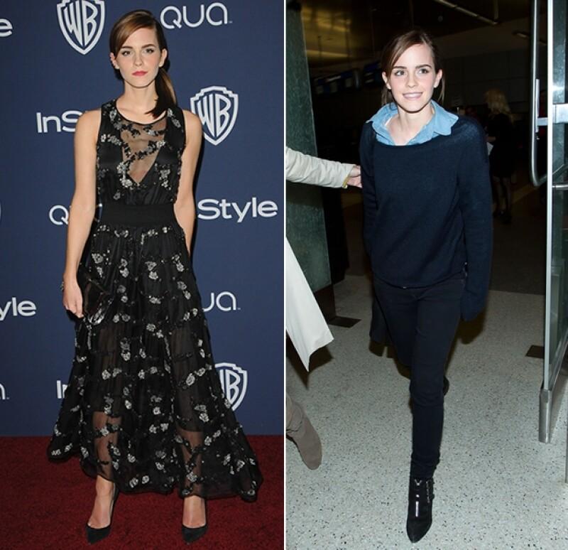Durante la post-party de los Golden Globe Awards optó por este vestido Theory