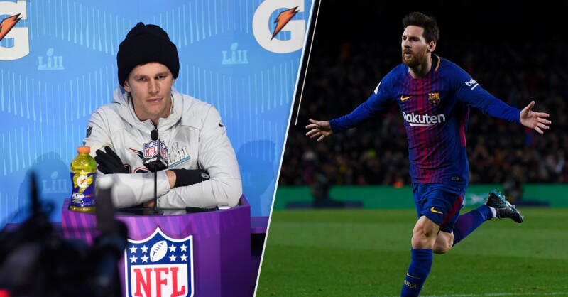 Tom Brady y Lionel Messi