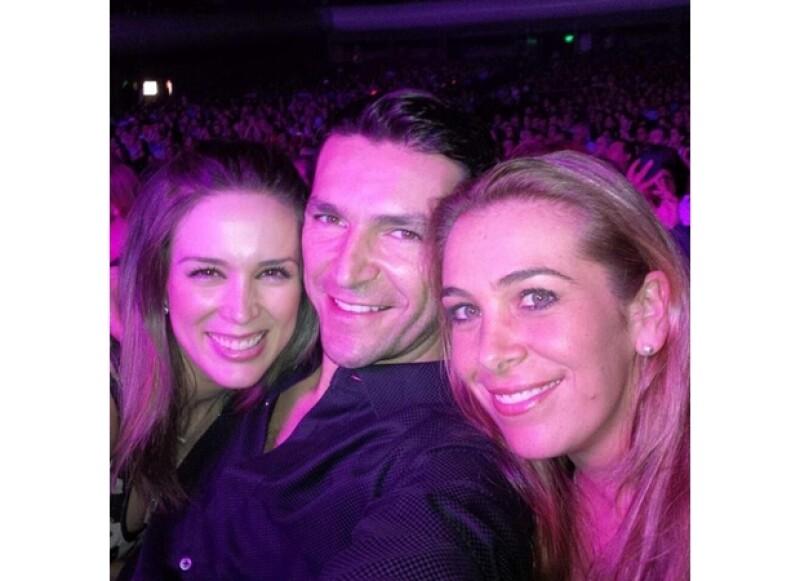 Martín Fuentes también compartió esta fotografía durante el concierto.