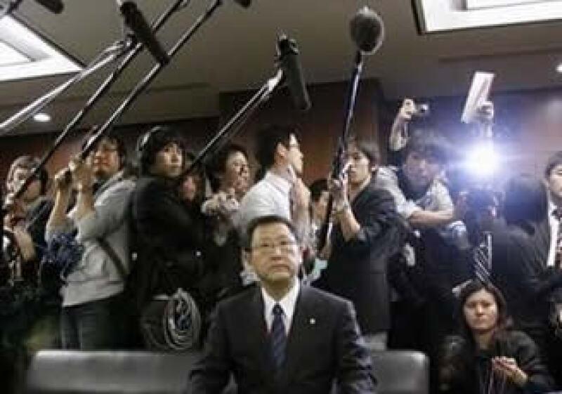 El presidente de Toyota Motor Corp, Akio Toyoda, en conferencia de prensa.  (Foto: Reuters)