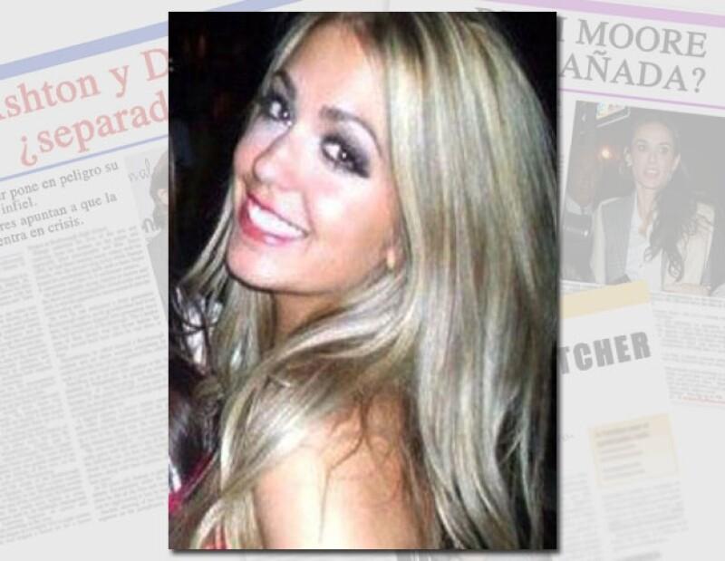 LA MANZANA DE LA DISCORDIA. Sara Leal es la supuesta joven con quien Ashton le fue infiel a Demi.