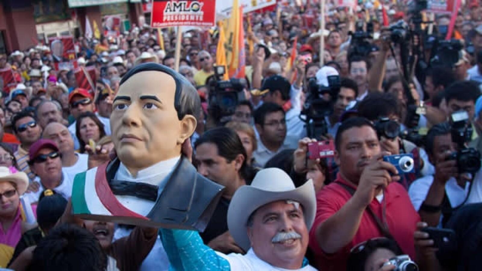 López Obrador en Ciudad Obregón, Sonora