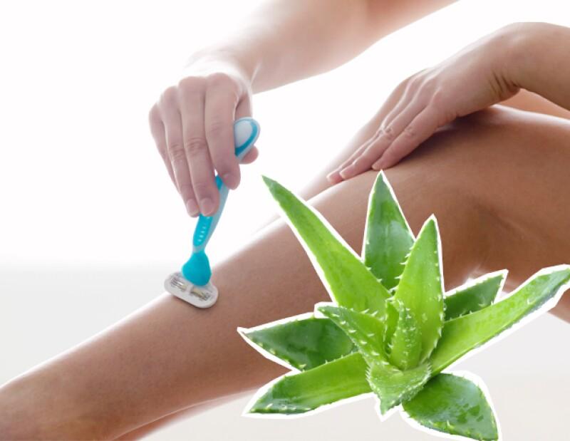 Usar aloe vera para rasurar dará excelentes resultados y una piel más suave.