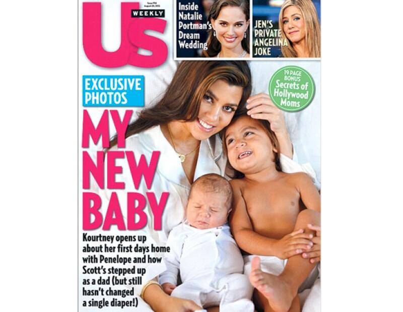 La hermana mayor del clan `K´ posó para la revista Us Weekly acompañada de Penelope y Mason, esta es la primera vez que conocemos a su hija.