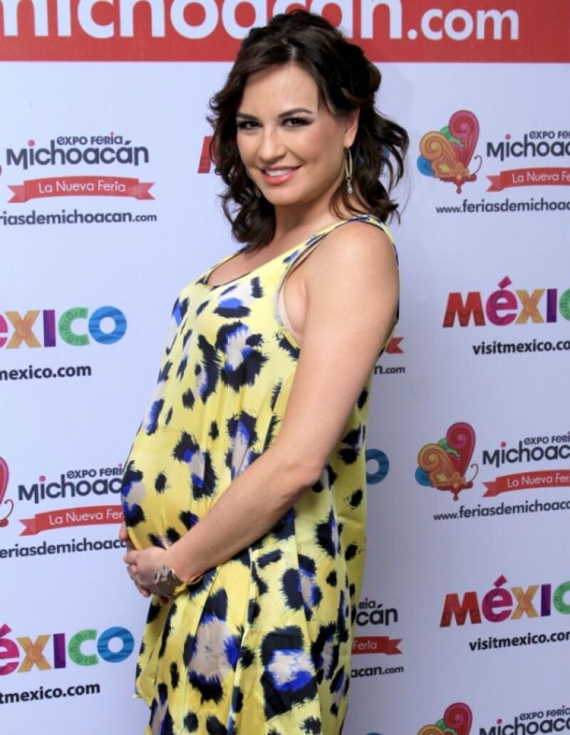 Así luce María José su primer embarazo.
