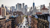 Lower Manhattan cityscape - Chinatown