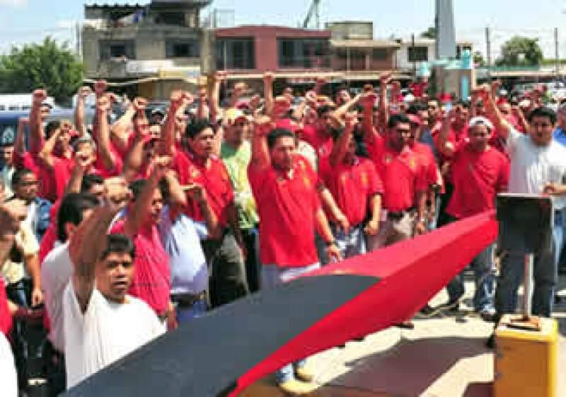 Los trabajadores sindicalizados están dispuestos a sostener el paro durante dos meses. (Foto: Notimex)