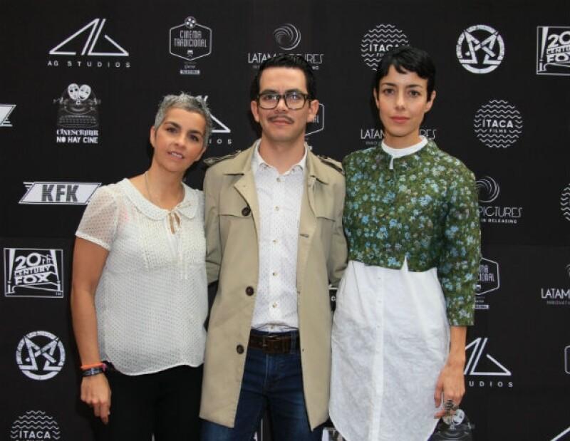 Federica Quijano, Manolo Caro y Ceci Suárez en un evento reciente.