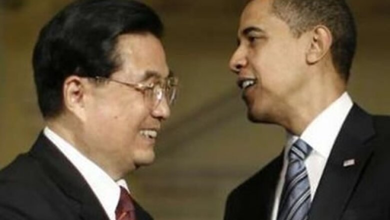 Obama y su homólogo de China Hu Jintao se vieron y conversaron acerca del comercio entre ambos pueblos.