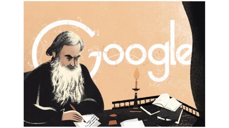 Google Tolstói doodle