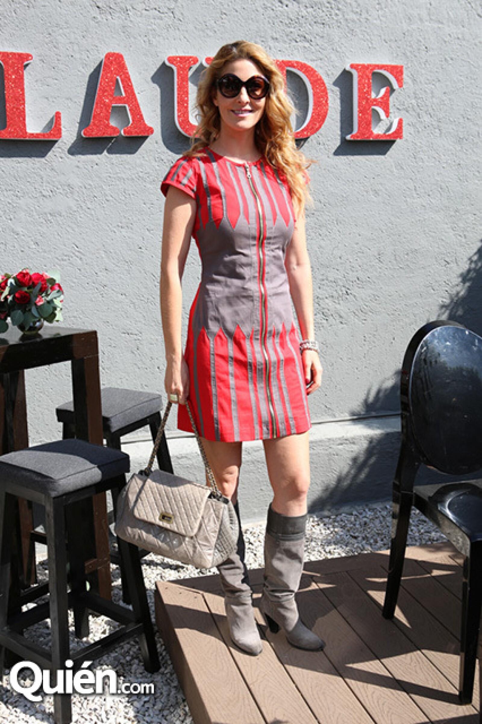 Marcela Cuevas en el evento Red Holiday.