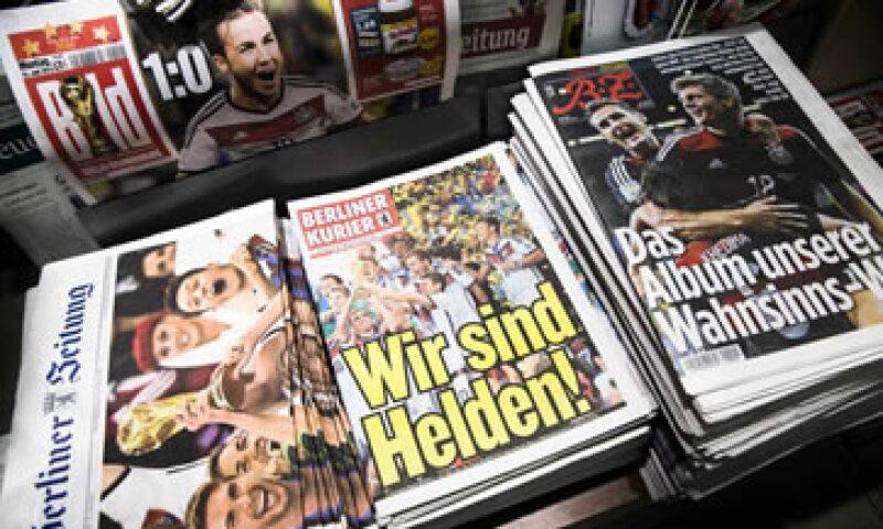 Los diarios alemanes destacaron el triunfo de la selección de futbol. (Foto: Reuters)
