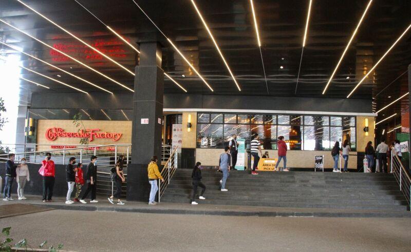 Filas en centros comerciales