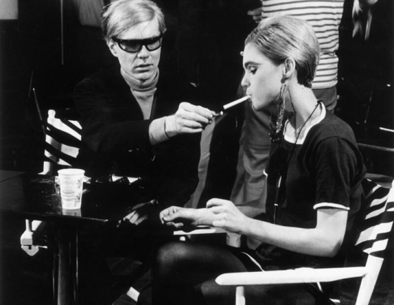 Edie Sedgwick con Andy Warhol