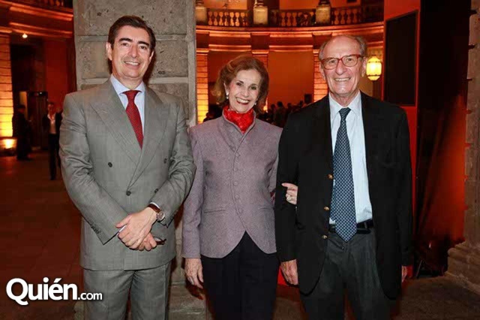 Fernando Tovar y de Teresa,Natalia y Marc Lebreton