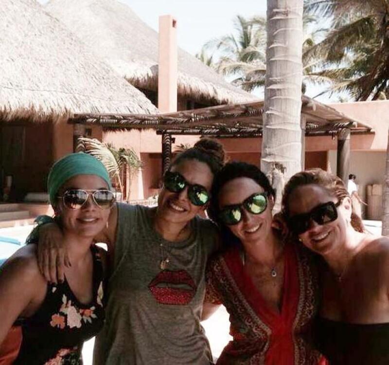 Rossana Nájera, Galilea Montijo, Inés Gómez Mont y Roxana Castellanos pasaron el fin en Acapulco.