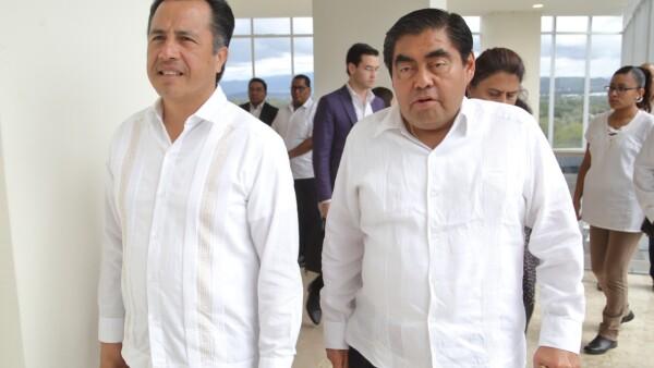 Cuitláhuac García y Miguel Barbosa