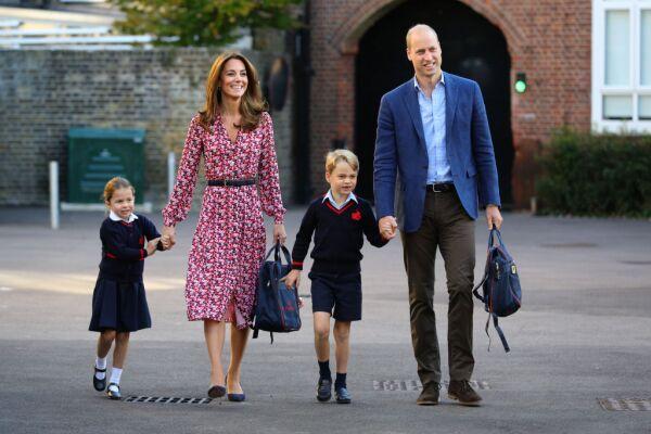 princesa Charlotte, Kate Middleton, príncipe William y el príncipe George