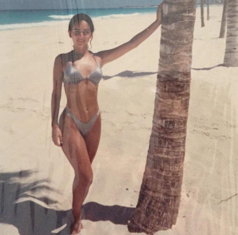 La actriz compartió con todos sus seguidores un throwback muy sexy.