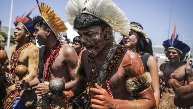 BRAZIL-INDIGENOUS-PROTEST