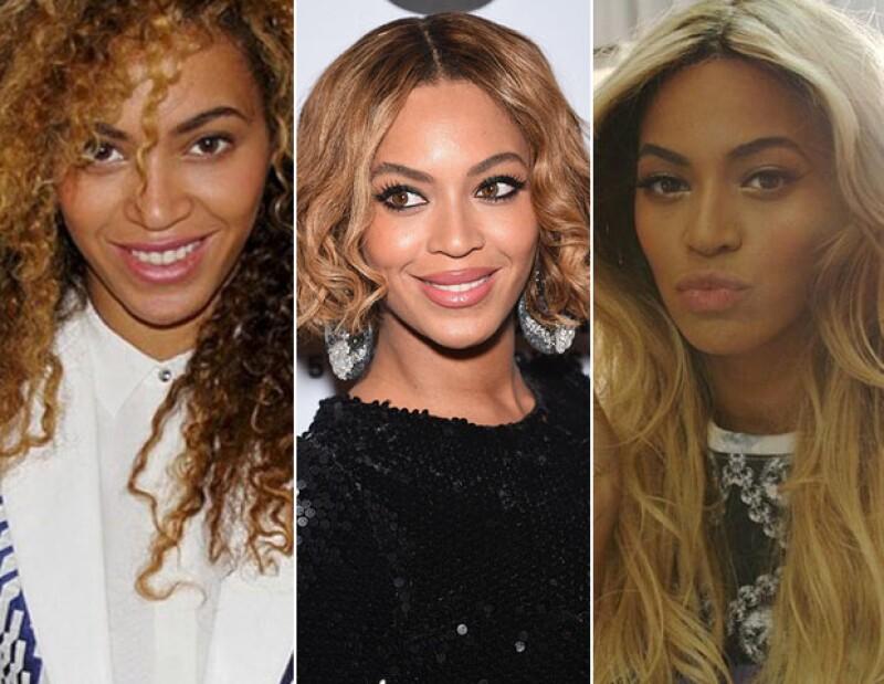 Lacio o curly, Beyoncé sabe cómo llevar su pelo siempre distinto.