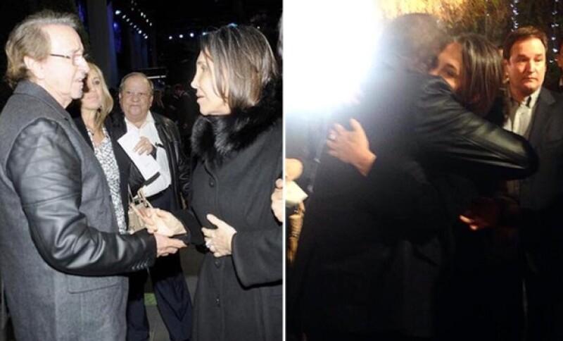 En el funeral de Chespirito, Florinda Meza se reencontró con Carlos Villagrán.