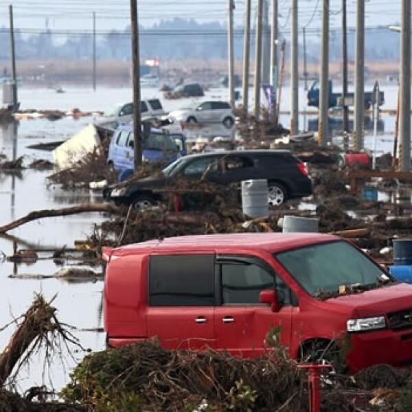 Imagen de la devastación provocada por un tsunami en Japón