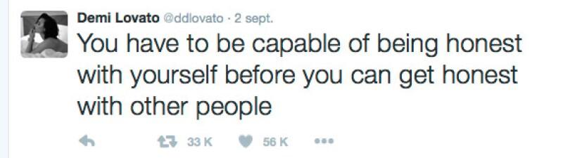 Este es el tuit que Demi publicó mientras Wilmer y Minka vacacionaban en México.