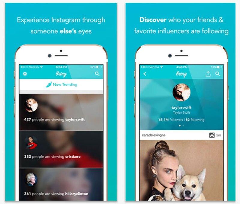 La app te deja ver las personas que tus celebs favoritas y tus amigos están siguiendo.