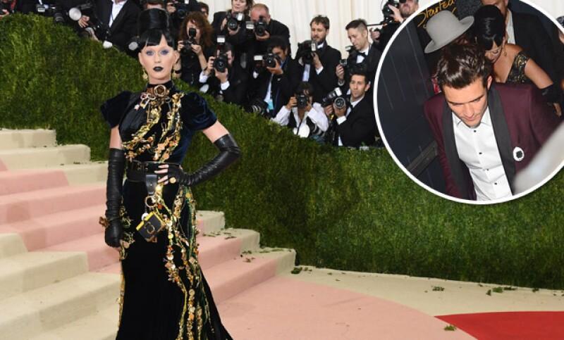 Aunque Katy y Orlando no posaron juntos en la red carpet de la Met Gala, sí estuvieron juntos en la fiesta.