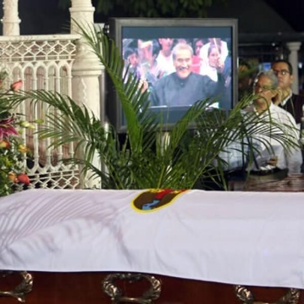 Los restos de Zeferino Nandayapa presentes en homenaje póstumo