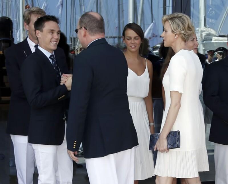 Alberto convivió con Louis y Pauline Ducruet, hijos de Estefanía de Mónaco.