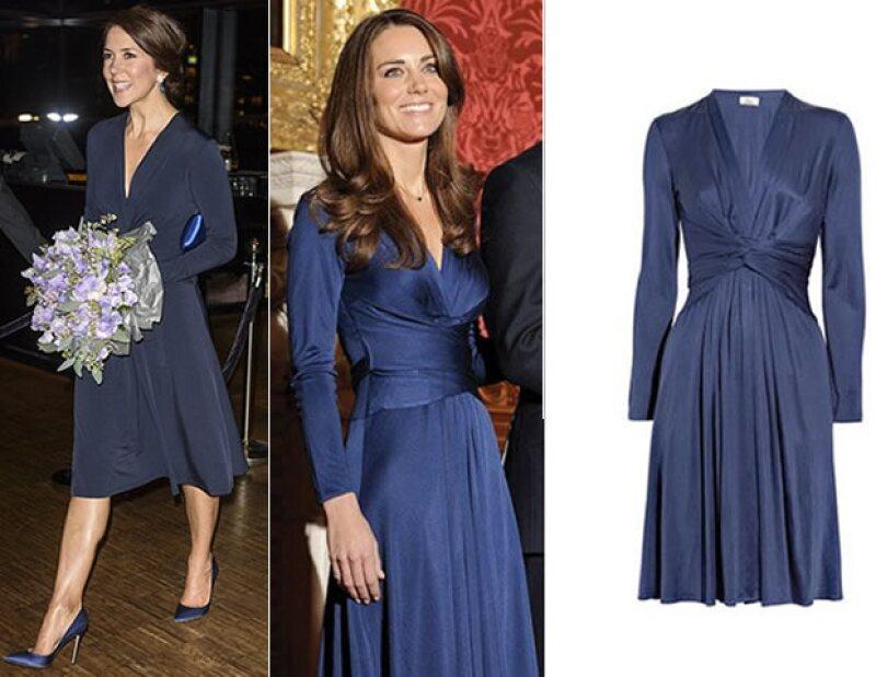 """La realeza también repite los looks.Así se vio en el """"Día Mundial del Cáncer"""" donde la esposa del príncipe Federico de Dinamarca repitió el conjunto que su amiga Kate Middleton había usado previamente"""
