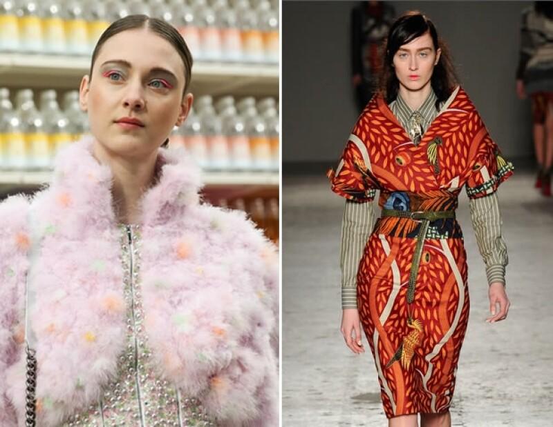Chanel y Stella Jean apostaron por el color en el maquillaje de sus pasarelas de otoño 2014.
