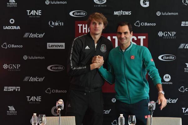 Alexander Zverev y Roger Federer
