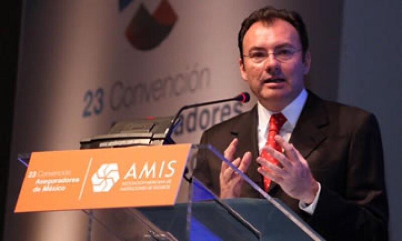Videgaray participa en la 23 Convención de la Asociación Mexicana de Instituciones de Seguros. (Foto: Notimex)