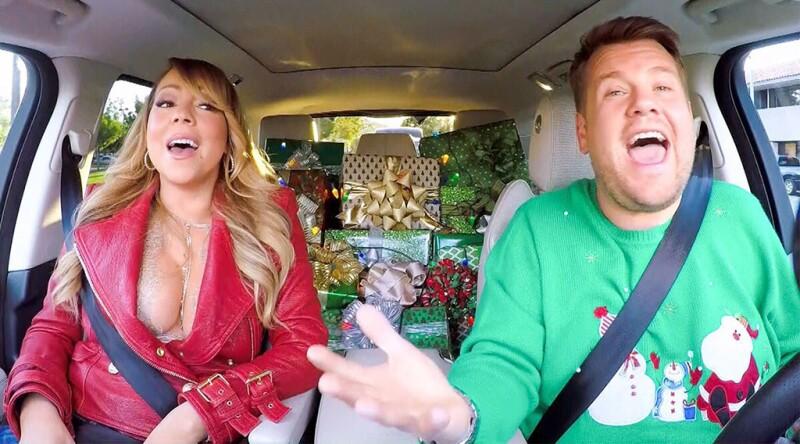 James Corden y Mariah Carey