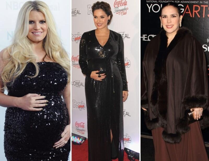 Jessica, Galilea y Angélica tuvieron a sus bebés este año.