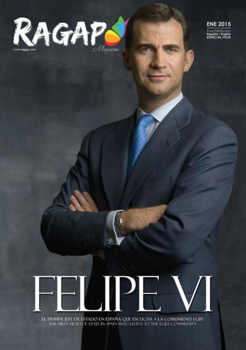 Felipe VI engalana el número de enero de Ragap, publicación española de temática homosexual, convirtiéndose en el primer jefe de estado de España que figura en este sentido.