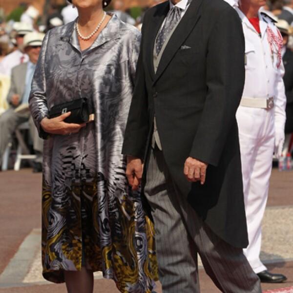 el presidente del Comité Olímpico Internacional, Jacques Rogge, y su esposa Anne.