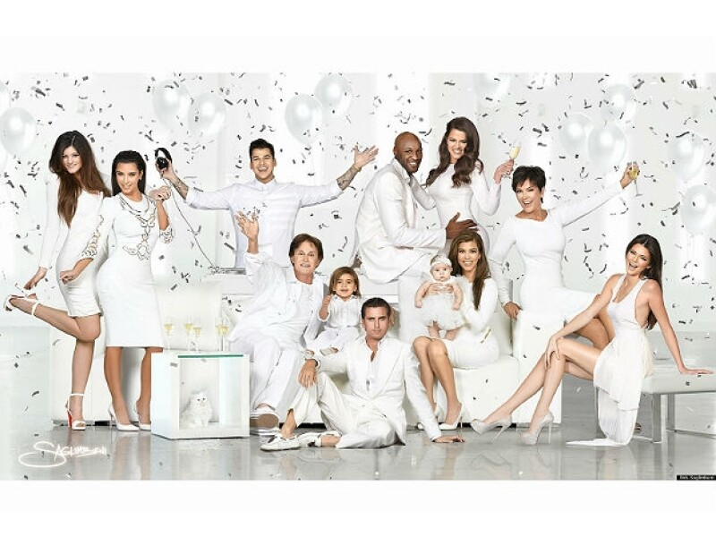 El clan Jenner-Kardashian demuesta cada año su unión con una postal navideña.