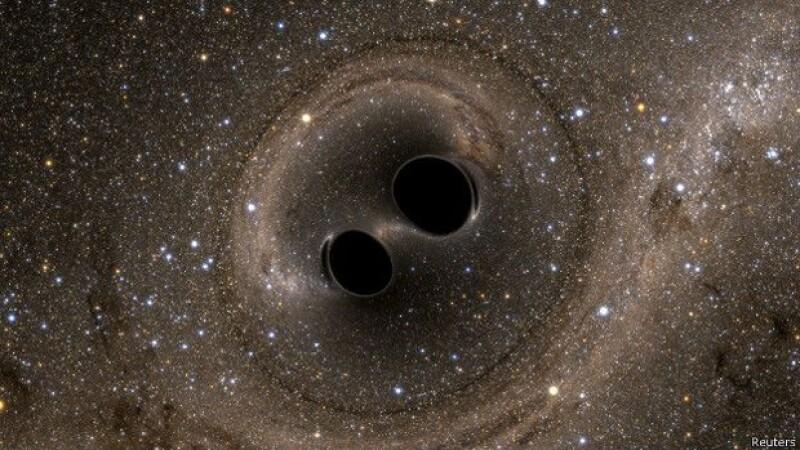 Por primera vez se observa la colisión de dos agujeros negros.