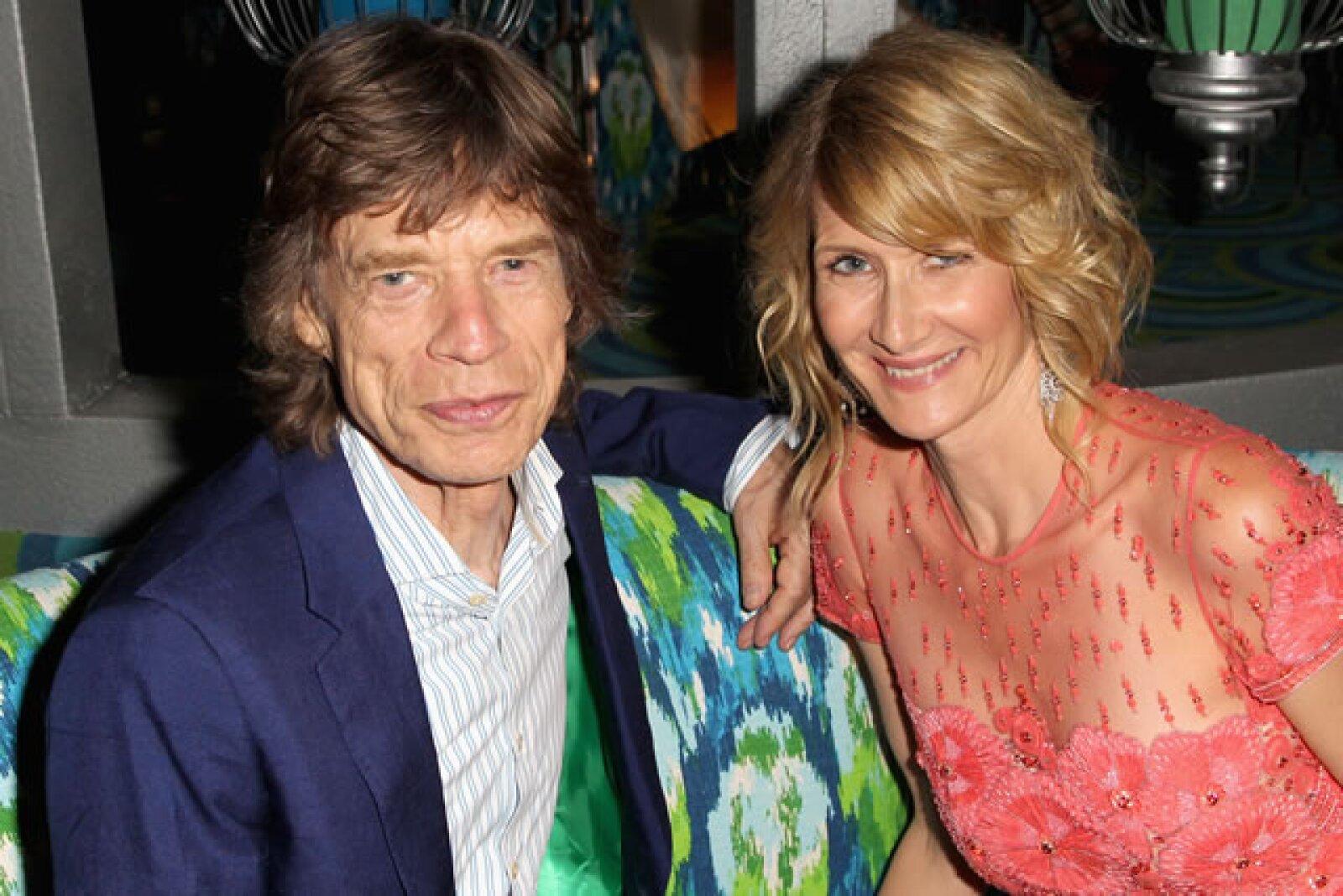 Laura Dern, Mick Jagger