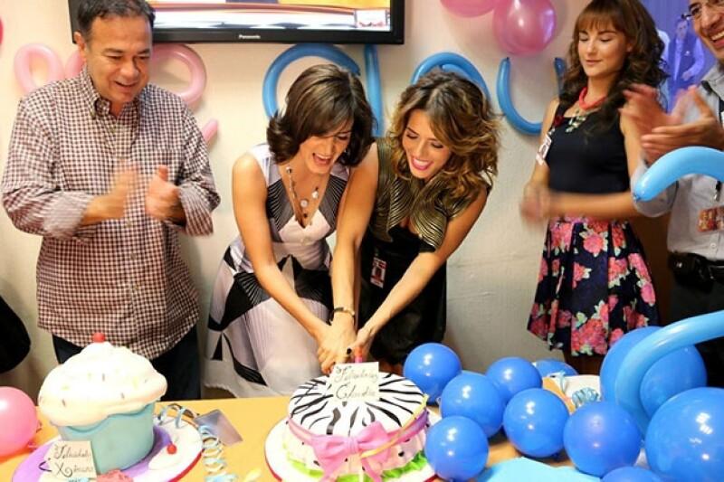 La actriz y el productor cumplieron este lunes 33 y 38 años respectivamente y lo celebraron con sus familiares y amigos.